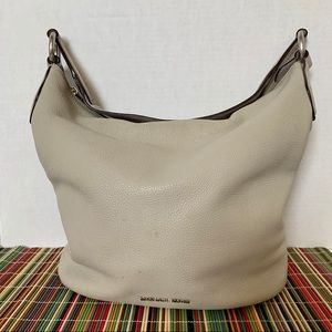 Michael Kors Light Gray Leather Hobo Shoulder Bag